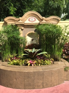 Fountain in Pirate Hideaway beside Pirates of the Caribbean ride