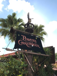 Pirates of the Caribbean ride flag