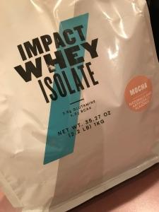 Impact whey isolate mocha protein bag