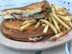 Pressed Turkey Sandwich and Fries