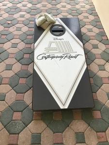 Contemporary Resort Cornhole board and bags