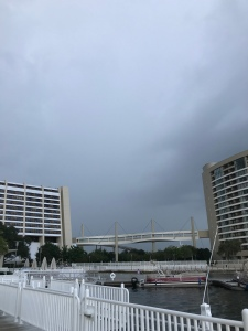 Stormy Sky over the Contemporary Resort and Surrounding area