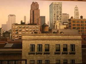 Mural painting of cityscape