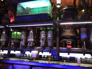 Creature tank and Star Wars themed taps and drafts at Oga's Cantina