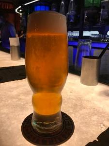Freshly poured Bad Motivator IPA draft beer