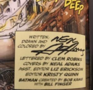 Inside comic book credits box for Ra's al Ghul #1