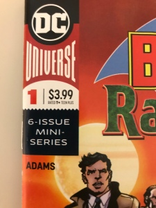 Close up of Adams as only collaborator on Batman vs. Ra's al Ghul #1 comic cover