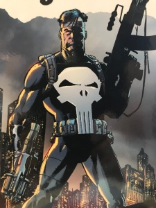 The Punisher with guns from Marvel Comics