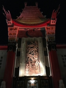 Front Entrance to Hollywood Studios Grauman's Chine se Theater at night
