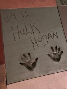 Hulk Hogan concrete handprints at Hollywood Studios