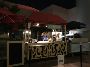 Pretzel, Beer and Ice Cream stand outside Disney Grauman's Chinese Theater at night