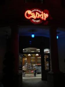 San Francisco Candy Factory entrance at Universal Studios