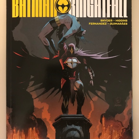 Comic book cover for Tales From the Dark Multiverse Batman Knightfall