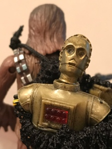 C3PO on Chewbacca's back figure
