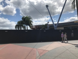 Walls and Construction Around Epcot Fountain