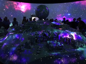 Projection Over Epcot Experience Model