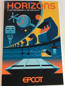 Vintage Horizons poster at Epcot Experience