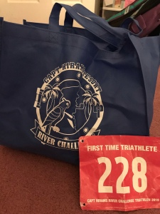 Triathlon Race bag and bib number