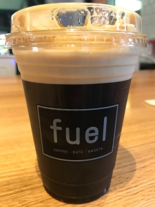 Small sized nitro cold brew coffee from Fuel