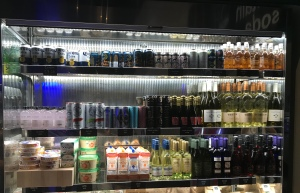 Refrigerated Drink section at Fuel