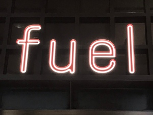 neon sign for Fuel