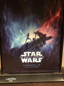The Rise of Skywalker movie poster standee