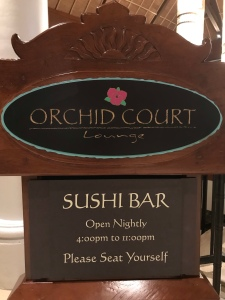 Orchid Court Lounge sign