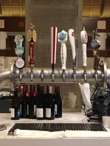 Draft beer options at Orchid Court Lounge