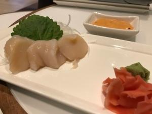 Japanese Scallop sashimi Orchid Court Lounge