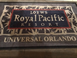 Loews royal Pacific Resort floormat