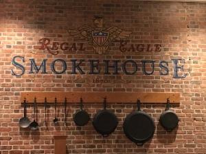 Regal Eagle symbol inside dining area