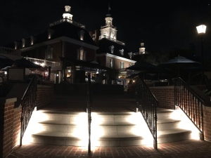 America Pavilion at night in Epcot